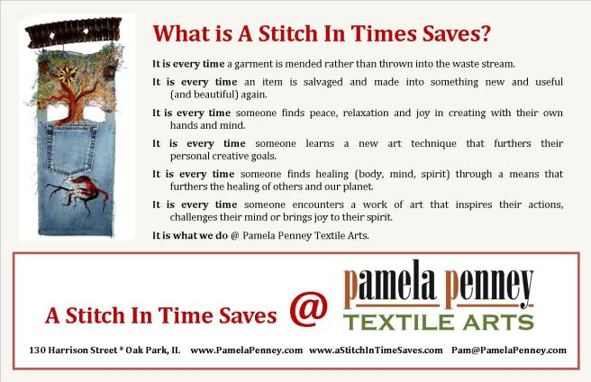 A Stitch In Time Saves. half page 2016
